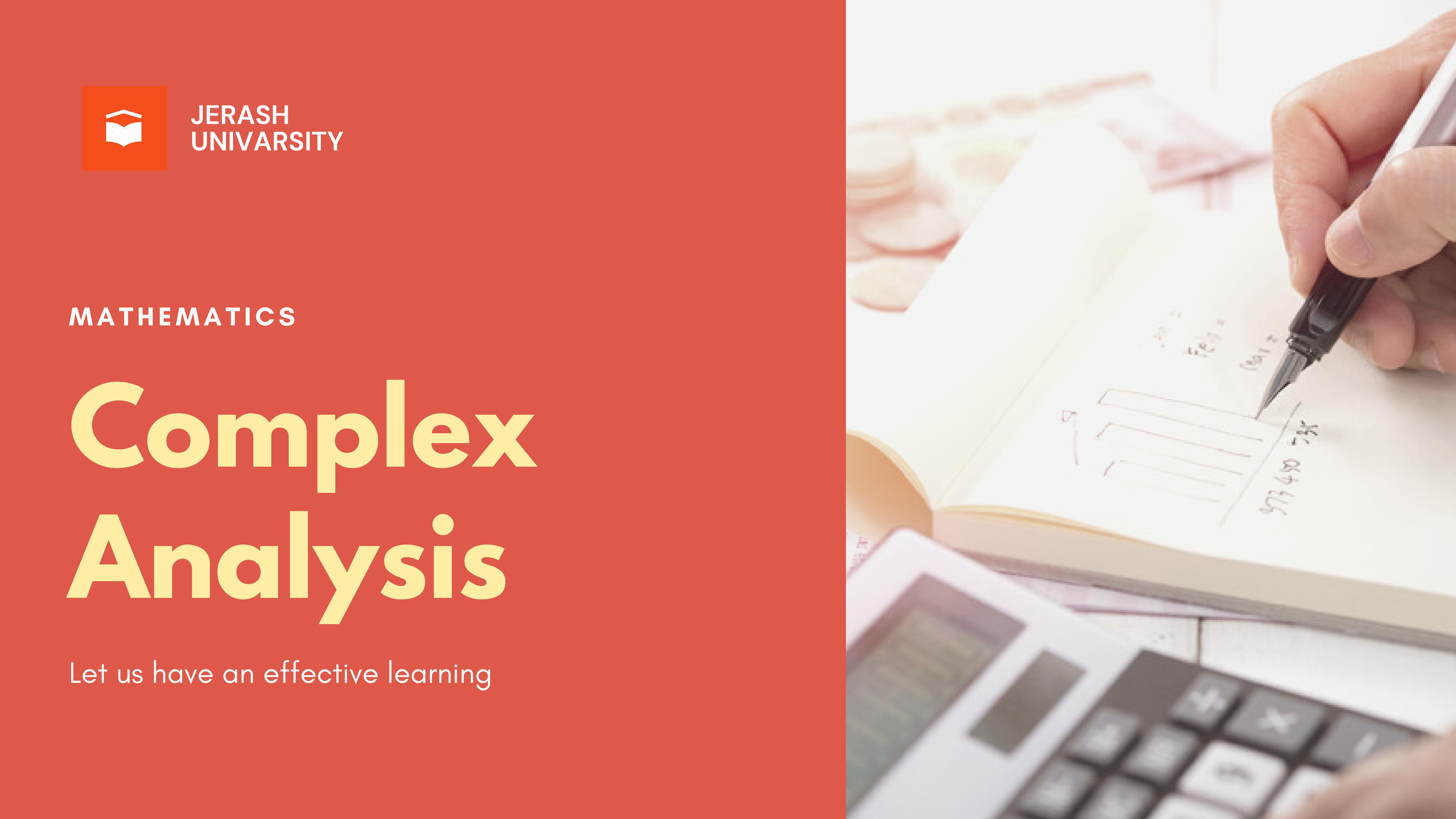 Complex Analysis   Lecture 3   Part 2  Semester 2   2020-2021